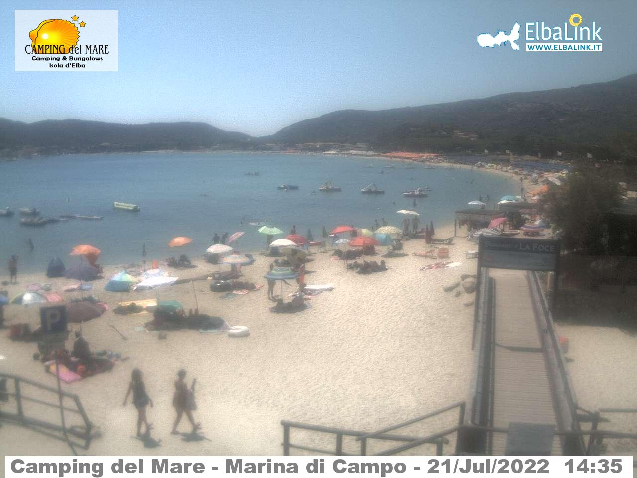 Webcam a Marina di Campo